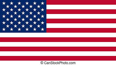 reale, colori, bandiera, americano, stati uniti