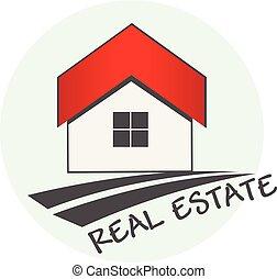 reale, logotipo, proprietà, casa