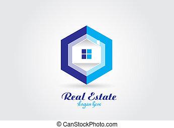 reale, logotipo, vettore, proprietà, casa