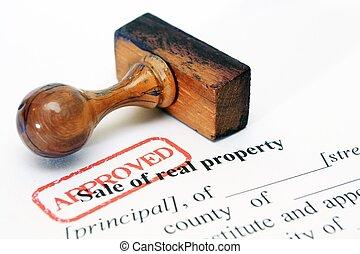 reale, proprietà, vendita, forma