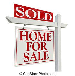 reale, venduto, proprietà, segno