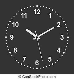 realistico, 3d, orologio