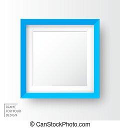 realistico, cornice, immagine