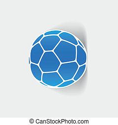 realistico, element:, palla, disegno