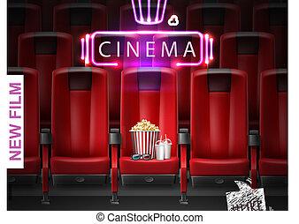 realistico, film, manifesto, premiere