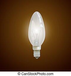 realistico, nero, luminoso, isolato, bulbo, luce, fondo.
