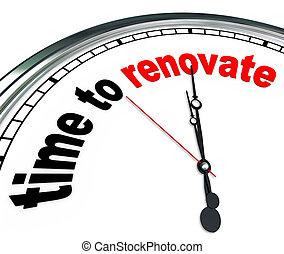 rebuilding, conto alla rovescia, orologio, progetto, tempo, rinnovare