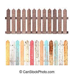 recinto, set, legno, rustico