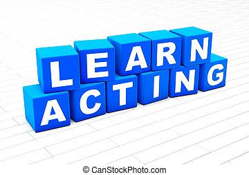 recitazione, parola, illustrazione, imparare