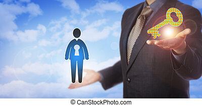 reclutamento, aprire, talento, direttore, offerta