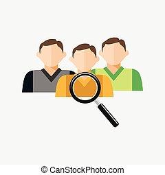 reclutamento, o, candidato, affari, ricerca