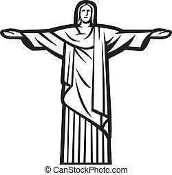 redentore, cristo, statua