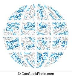 referrals, parola, ottenere, processo, testo, vendite, come, concetto, fondo, nuvola