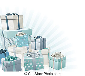 regali, angolo, natale, elemento