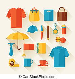 regali, icona, set, souvenirs., promozionale