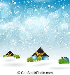 regali, neve, annidato, natale, 1210