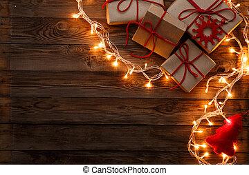 regali, scatole, vuoto, fondo