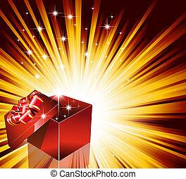 regalo, compleanno, o, scheda, natale