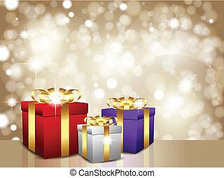 regalo, natale, fondo