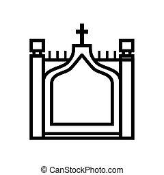 regno, ponte, grafico, vettore, unito, torre, icon., design.