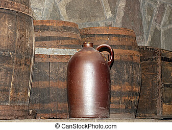 regolazione, barile, vino, rustico
