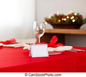 regolazione, cena natale, tavola