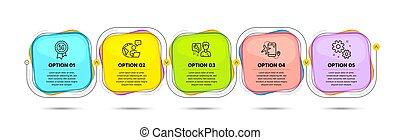regolazioni, segno., vettore, lavoro, wi-fi., voli, qualità, app, domanda, riparatore, tecnologia, set., 5g, icone, aeroporto