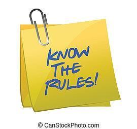 regole, esso, nota, scritto, sapere, palo