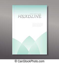 relazione, annuale, coperchio, disegno