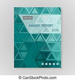 relazione annuale, coperchio, illustrazione