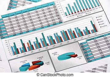 relazione, annuale, outgoings, incomings