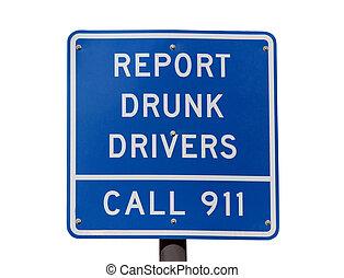 relazione, driver, ubriaco, segno