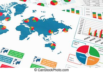 relazione, grafici, carta, tabelle