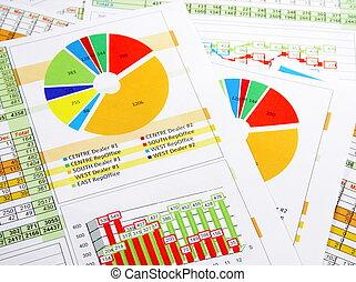 relazione, grafici, tabelle, vendite