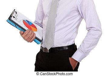 relazione, uomo affari, vendite, presa a terra
