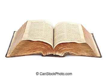 religion., bibbia, vecchio