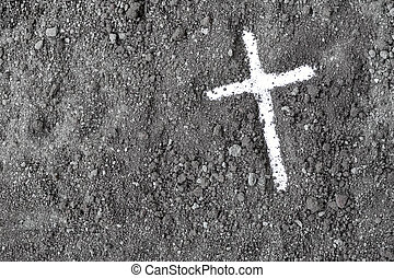 religion., cristiano, cenere, cross., lent., mercoledì