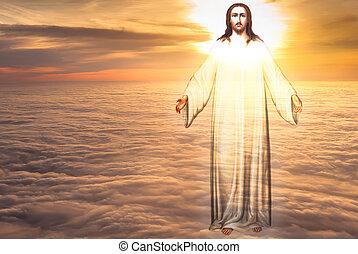 religione, concetto, cielo, cristo, gesù