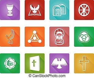 religione, cristiano, icone