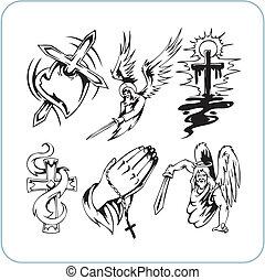 religione, cristiano, vettore, -, illustration.