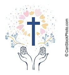 religione, fondo, illustrazione, cristianesimo