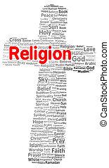 religione, forma, parola, nuvola