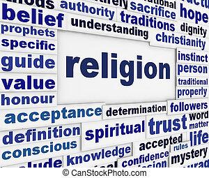 religione, messaggio, fondo