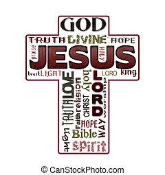 religione, nuvola, parola, gesù, cristianesimo