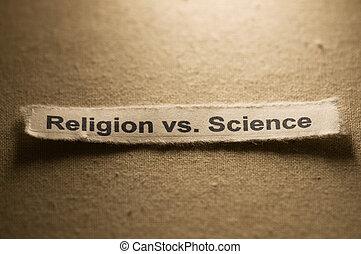 religione, vs, scienza