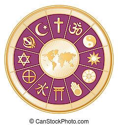 religioni mondo, mappa