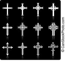 religioso, disegno, croce, collezione