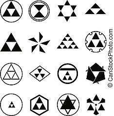 religioso, vario, simboli