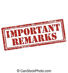 remarks-stamp, importante