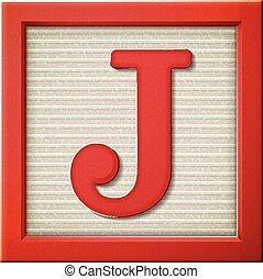 renda impraticabile lettera, rosso, j, 3d